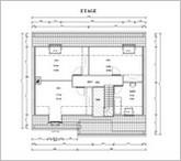 plan de l'étage avec toutes les cotes